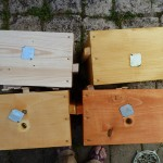 Etapes peinture àla propolis
